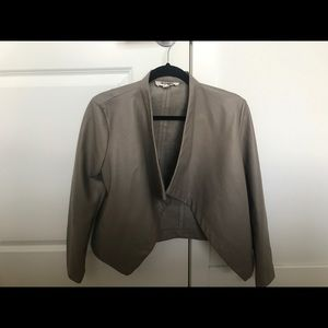 Greige Leather bb dakota jacket